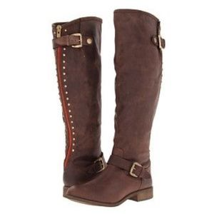 Mossimo tall riding stud buckle boot